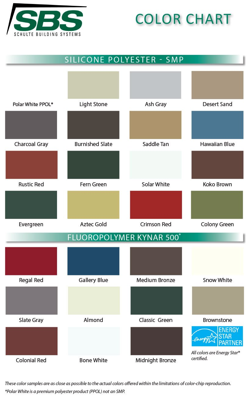 Color Guides Metal Buildings Sbs