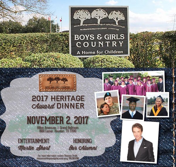 the Boys and Girls Country Annual Heritage Award Dinner