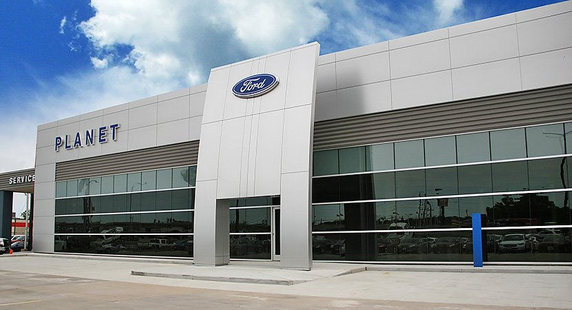 Planet Ford Metal Building by SBS
